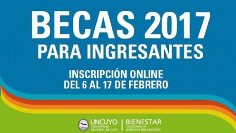 Se abre la Convocatoria a Becas para ingresantes 2017