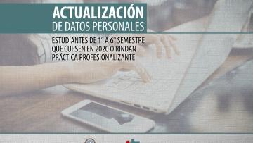 Estudiantes: actualización de datos personales