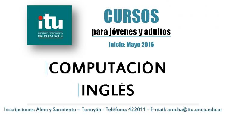 Cursos de inglés y computación para jóvenes y adultos