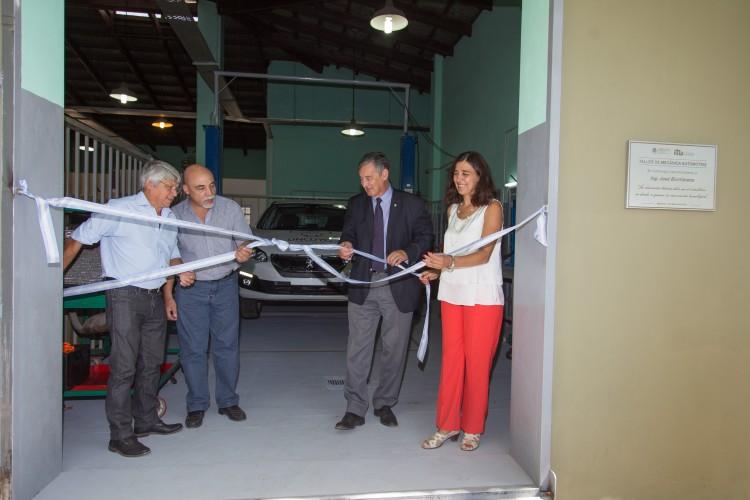 """El ITU inauguró el Taller de Mecánica Automotriz """"Ing. José Biurriarena"""""""