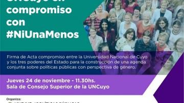 UNCUYO Y Estado Provincial trabajarán juntos contra la violencia de género