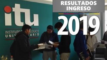 Resultados Ingreso 2019