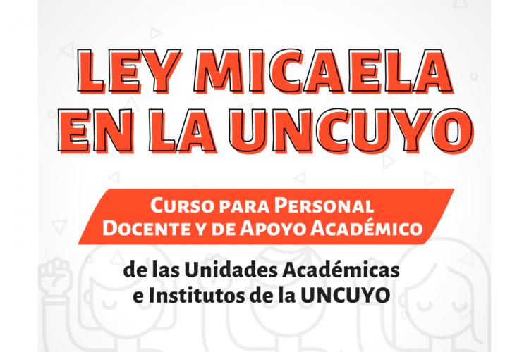 """Nueva cohorte del curso virtual """"Ley Micaela en la UNCUYO"""""""